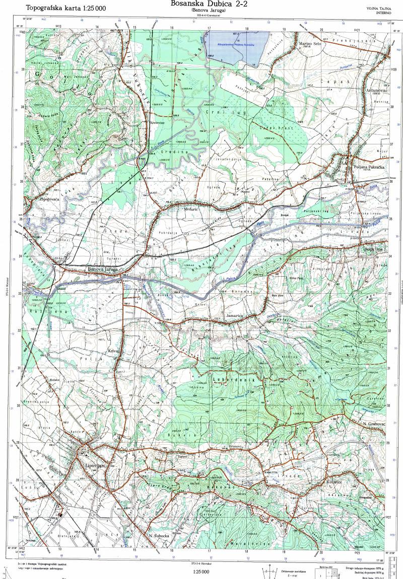 Topografska Karta Bih Karta