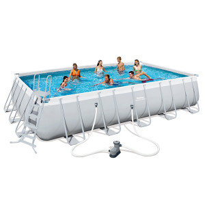 Pravokutni plivaći bazen čeličnog okvira Bestway Power