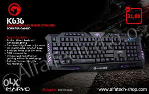 Tastatura Gaming MARVO K636 Wired