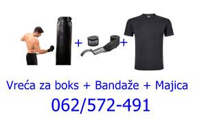 Vreća za boks 50kg + Majica + Bandaže