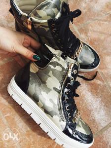 Military print ženske patike
