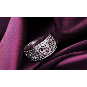 prsten -posrebren