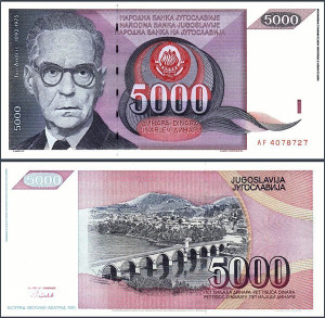 YU - 5.000 dinara - 1991 - UNC