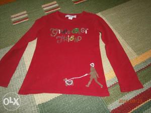 Krasna majica,marka GAP.Uzrast 6-7 godina