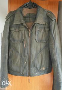 Muška kožna moto jakna