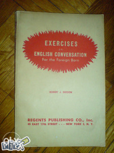 EXERCISES in ENGLISH CONVERSATION