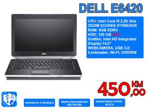 """LAPTOP DELL E6420 14,0"""" I5 2,50 GHz, 4GB, 120GB SSD"""