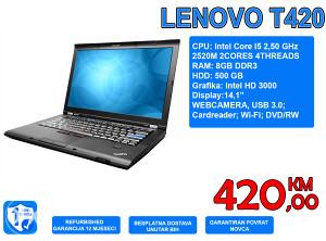 "LAPTOP Lenovo T420 14,1"" I5 2,50 GHz, 8GB DDR3"