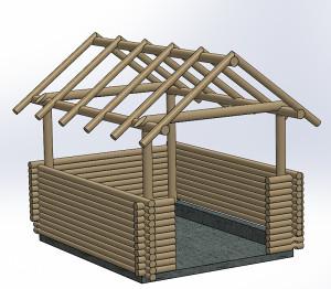 Konstrukcija bungalova, sadvana i suncobrana