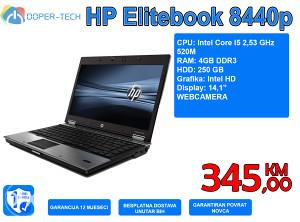 """LAPTOP HP 8440 14,1"""" I5 2,53 GHz, 4GB RAM, 250GB HDD"""