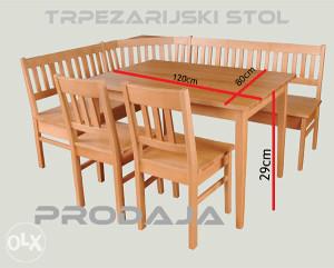 TRPEZARIJSKI STO /STOL **EXTRA**