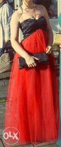 Duga maturska haljina šivena po narudžbi