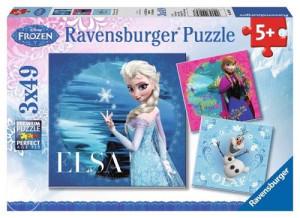 Ravensburger Disney Frozen Puzzle (3 x 49kom)