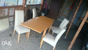 trepezariski sto i 4 stolice