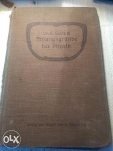 Knjiga FIZIKA 1908-godina