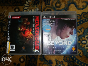 Ps3 igre 2 komada Beyond two souls i Metal gear solid 4