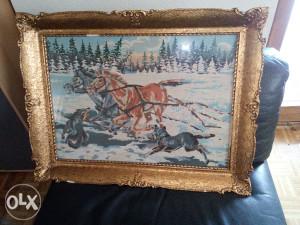 Goblen konji u galopu
