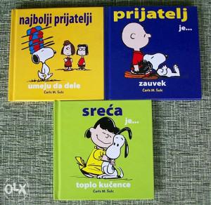 3 Snoopy sknjizice za 6 KM