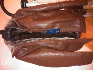 Zimska jakna prirodna koža muška krzno