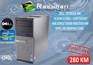 Kompjuter Dell i3 3.3GHz Druga generacija/4GB DDR3