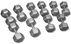 Bućice HEXA Metalne Set 15 17,5 20 kg Tegovi Bućica