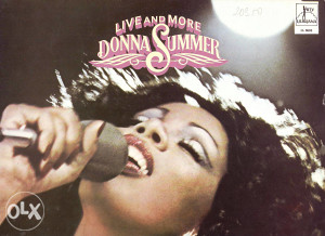 DONNA SUMMER-LIVE AND MORE lp