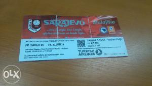 Ulaznica-F.K. Sarajevo- F.K. Sloboda