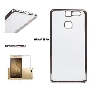 Huawei P9 Silikonska Maska +Zastitno Staklo