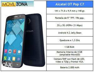 Alcatel one tac pop c7