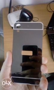 Maska za HTC 626 metalni okvir, siva boja