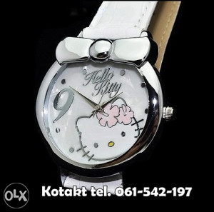 Hello Kitty sat bijeli - H17