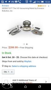 Usisivac robot Deebot d76