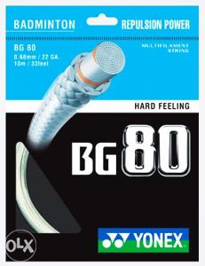 YONEX BG80 - vrhunski badminton špan