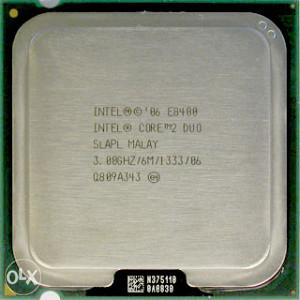 CORE2DUO E8400; 2 X 3 GHZ; 6 MB CASH
