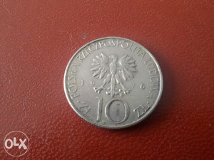 Kovanica Poljska 10 zlota 1976 g.