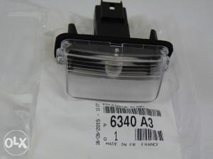 Osvjetljenje tablice Peugeot 406 , 407, 5008 , Partner