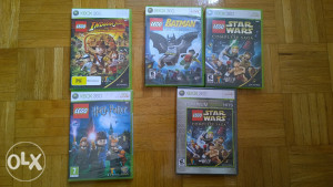 Lego Batman , Indiana Jones , Harry Potter , Star Wars