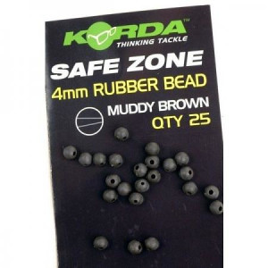 Korda SAFE ZONE 4mm Rubber Bead - Brown - K4RBB