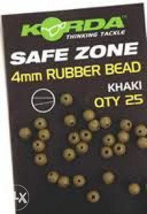 Korda  SAFE ZONE 4mm Rubber Bead - Khaki - K4RBK