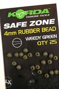 SAFE ZONE 4mm Rubber Bead - Weedy Green - K4RBG