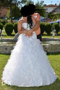 vjenčanica bijela princess volan