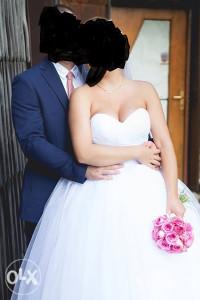 vjenčanica bijela princess bez detalja