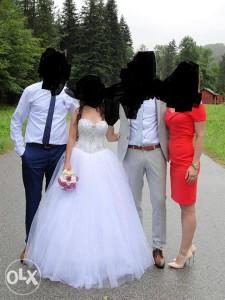 vjenčanica bijela korzet od cirkona i perlica