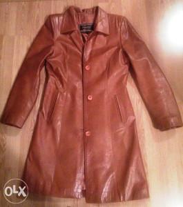 Ženska kožna jakna PERUZZI, duži model