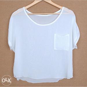 Ženska majica kratkih rukava bijela veličina L