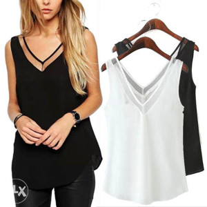 Ženska majica bijela i crna veličina M