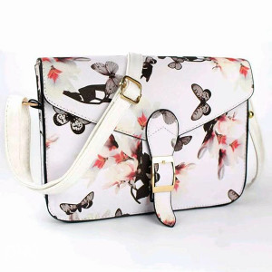 Ženska bijela torba leptirići