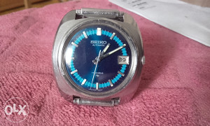 VINTAGE SEIKO BLUE AUTOMATIC 17 JEWELS