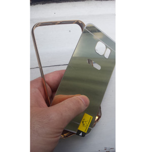 METALNA maska za Samsung Galaxy S7 i ZLATNO STAKLO