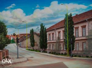Umjetnička slika - Motiv iz Vlasenice